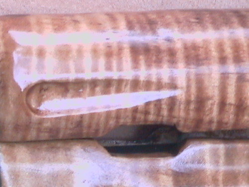 Hand carved AK-47 Rifle Stock - Tiger Maple