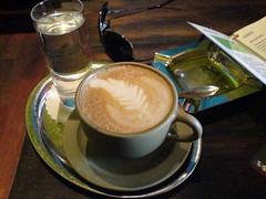 turkish coffee(0.0), espresso(1.0), cappuccino(1.0), flat white(1.0), cortado(1.0), caf㩠au lait(1.0), coffee(1.0), caff㨠macchiato(1.0), drink(1.0), caffeine(1.0),