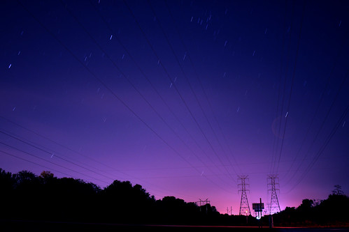 sky night stars landscape lowlight powerlines astrophotography startrails debary slowspeed canonef24mmf28 debarymemorialpark superbmasterpiece