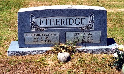 Grave of Benjamin Franklin Etheridge