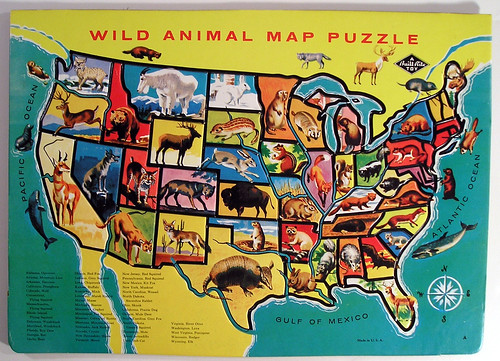 Built-Rite Wild Animal Map Puzzle