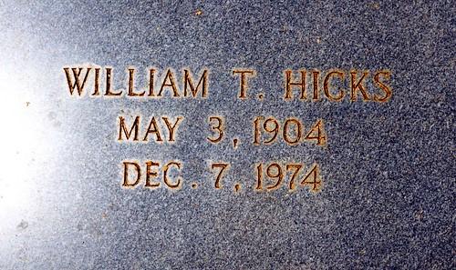 Grave of William T. Hicks