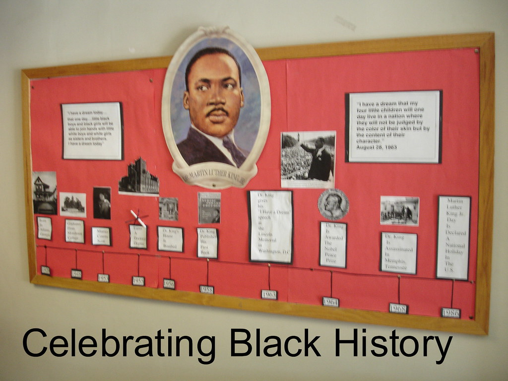 Black History Classroom Decorations ~ Black history month bulletin board a time line of dr