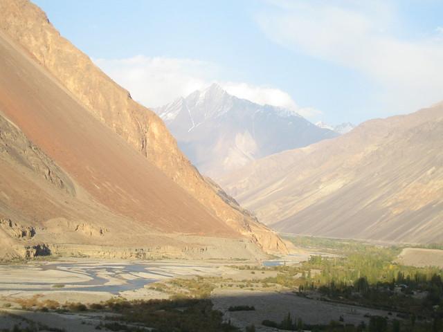 The Mastuj valley, looking east towards Mastuj