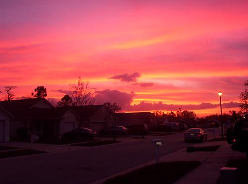sunset orlando florida hurricane hurricanecharlie