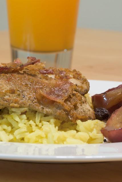 Chicken Breast Dijon on a bed of Basmati Rice (closeup) | Flickr ...