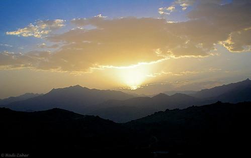 sunset cloud sun afghanistan mountains dusk central scenic scene hills highland afghan layers hindu hazarajat hazara kush bamian hindukush jaghori jaghoori jaghury