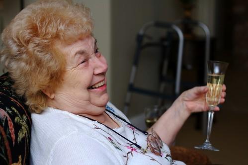 elderly woman smiling