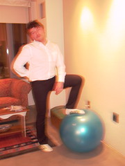 arm, exercise equipment, room, swiss ball, muscle, limb, leg, human body, physical fitness, ball,