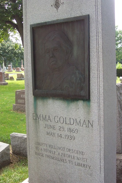 Emma Goldman at Forest Home Cemetery