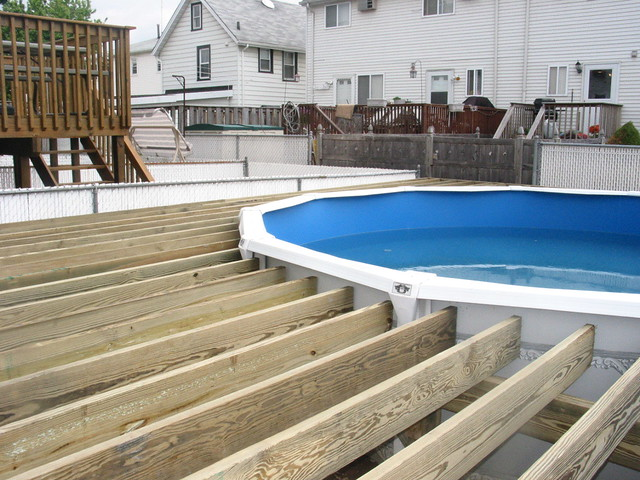 Photo for How to build a deck around a pool