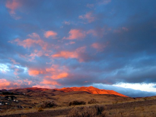 morning sky mountain color clouds sunrise glow nevada hills nv reno
