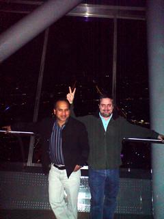 Chris and Alam on the Sky Bridge
