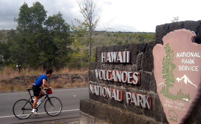 Bike Hawaii Volcano into the Hawaii Volcanoes