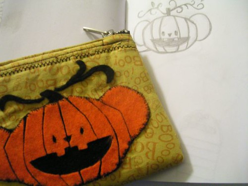 Pumpkin-koala pocket purse