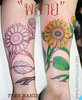 My tattoo work : sun flower 2006 custom Free hands