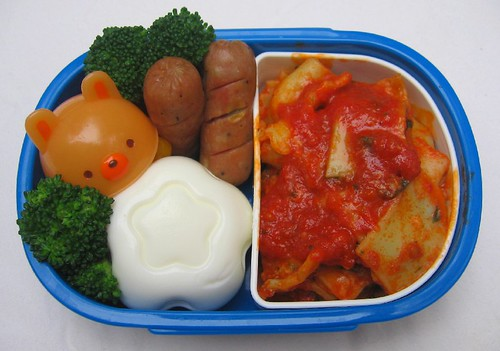 Ravioli lunch for toddler