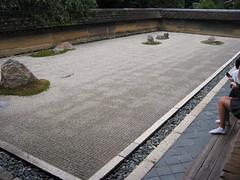 The celebrated Ryoanji zen garden, Kyoto, Japan