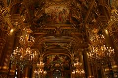Chandeliers in the Grand Foyer in L'Opera-Garnier