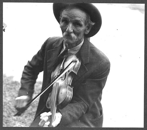 No Known Restrictions: Fiddlin' Bill Henseley, Mountain Fiddler, Asheville, North Carolina by Ben Shahn, 1937 (LOC)