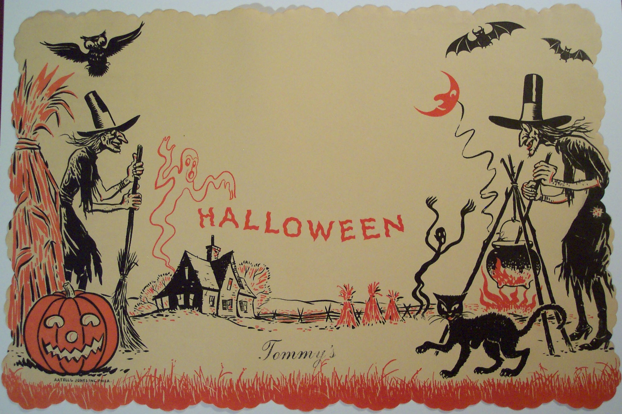 Vintage Halloween paper place mat | Flickr - Photo Sharing!