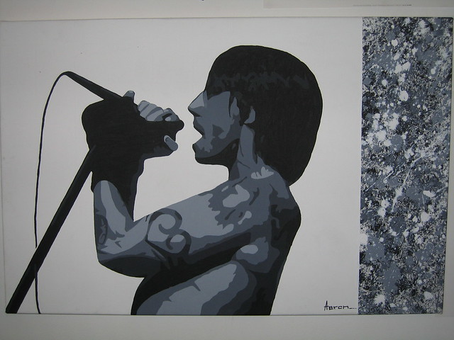 Red Hot Chili Peppers Painting Anthony Kiedis