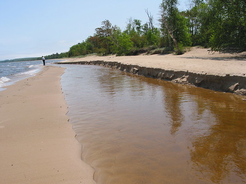 beach river shoreline whitefishbay lakesuperior sediments