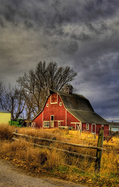 Red Barn hdr of a red barn in Ammon Idaho Suggestions