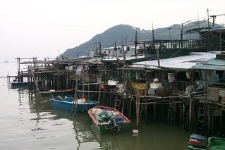 Ramshackle housing, Hong Kong, China