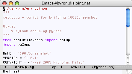 Emacs in Tiger
