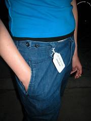 cobalt blue(0.0), teal(0.0), leg(0.0), human body(0.0), pattern(1.0), denim(1.0), jeans(1.0), arm(1.0), clothing(1.0), abdomen(1.0), limb(1.0), fashion(1.0), trunk(1.0), electric blue(1.0), pocket(1.0), blue(1.0),