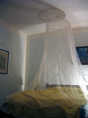 furniture, mosquito net, room, property, bed, ceiling, interior design, bedroom,