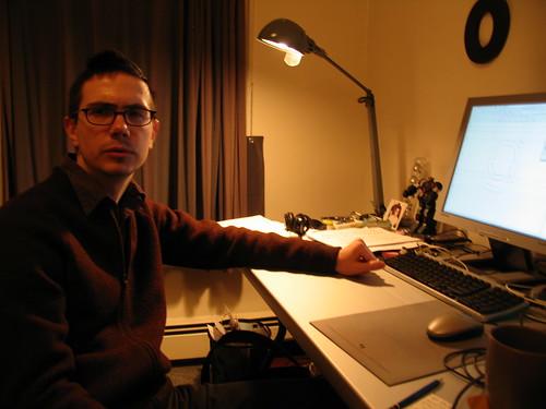 Cyrus Highsmith at Font Bureau, Providence, RI, December 2004