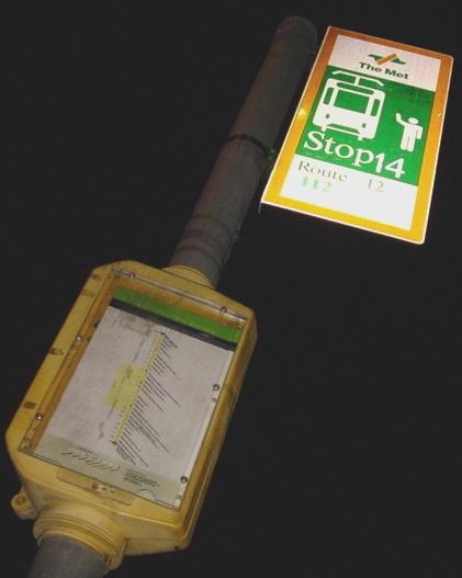 Tram stop (night)