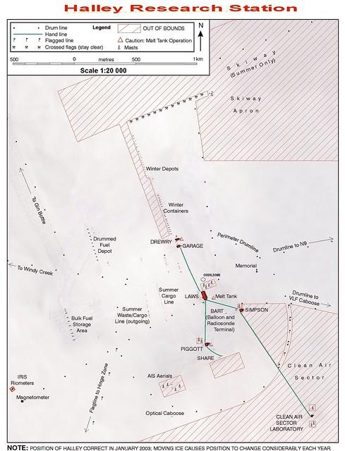 Halley V site map