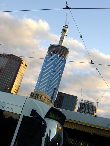 Tramlines & skyscraper