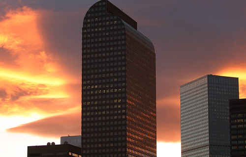 Wells Fargo Center at Sunset