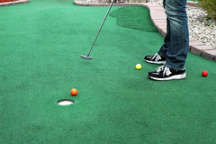 lawn game, pitch and putt, grass, individual sports, play, sports, recreation, outdoor recreation, leisure, green, golf, miniature golf, ball game,