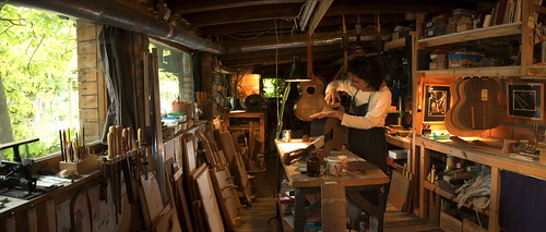 A guitar-maker's workshop