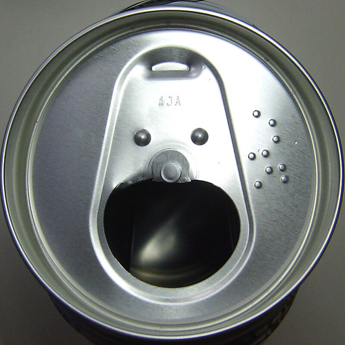 Beer can face