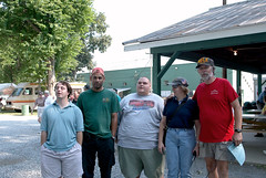 671B2007: Mike/KG4JNA, Ron/KG4ICG, Brian/N8FK, Maria/KG4JBJ and Butch/N8LE
