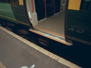 Electrostar train - mind the gap