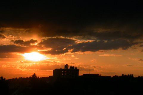 sunset clouds pa hazleton