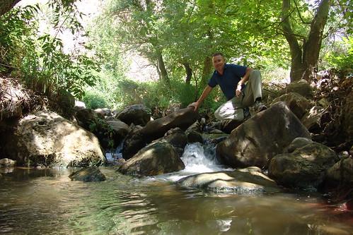 A refreshing waterfall in Qadisha Valley