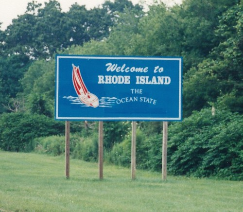 Welcome To Rhode Island Road Sign