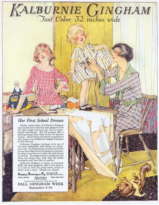 Kalburnie Gingham Fabrics ad, 1921