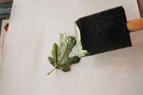 leaf printing tutorial
