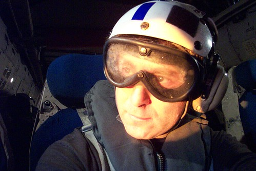 Todd in a US Navy C-2 Transport Plane - but are his pictures secured at home?