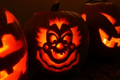 Scary Clown Pumpkin Carvings
