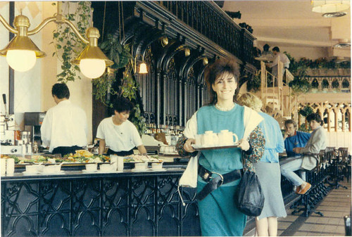 Wendy bringing the Tea in Hawkins cafe June 1986